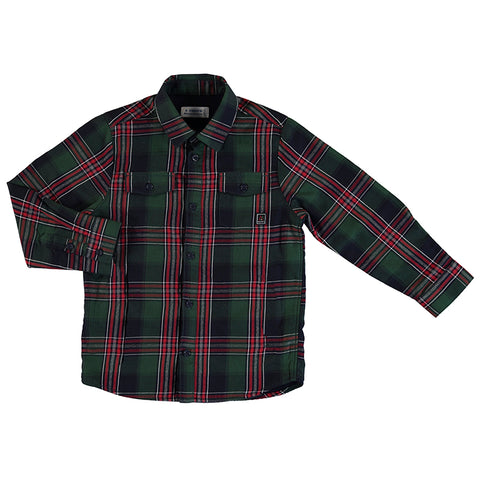 Spanish Fir Plaid twill undershirt