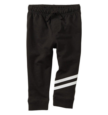 Speedy Striped Baby Joggers - Jet Black
