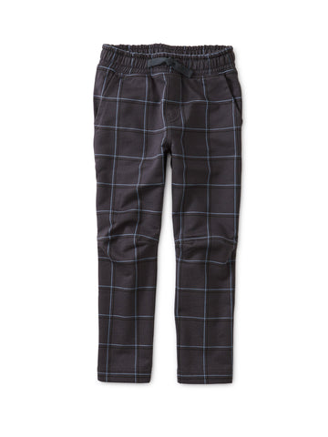 Printed Trek Pant - Double Windowpane