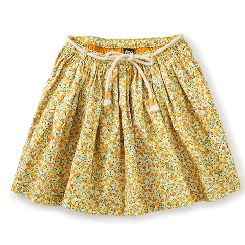 Removable Tie Twirl Skirt: Wildflowers in Gold