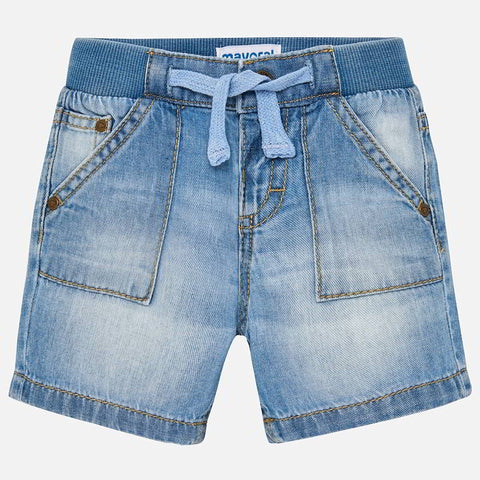 Basic denim bermuda shorts Light