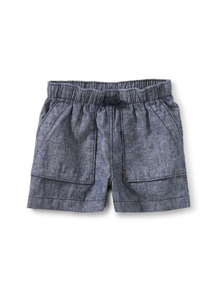 Chambray Camp Shorts: Indigo