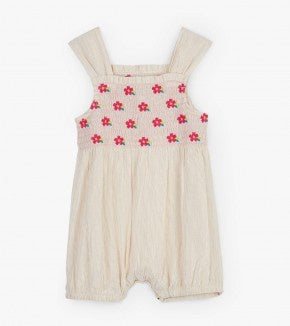 Tropical flowers baby bubble romper
