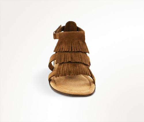 Maya Fringed Sandal- Brown