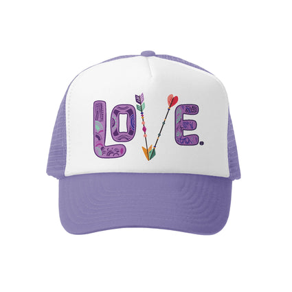 Love Lav / Wht Trucker Hat