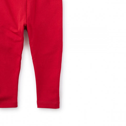 Skinny Solid Baby Leggings-CHINA RED