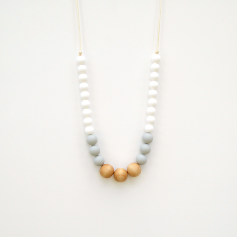 Wood and Silicone Necklace