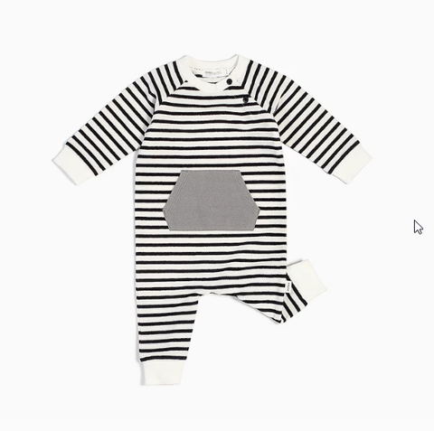 Black & White Baby Striped Playsuit