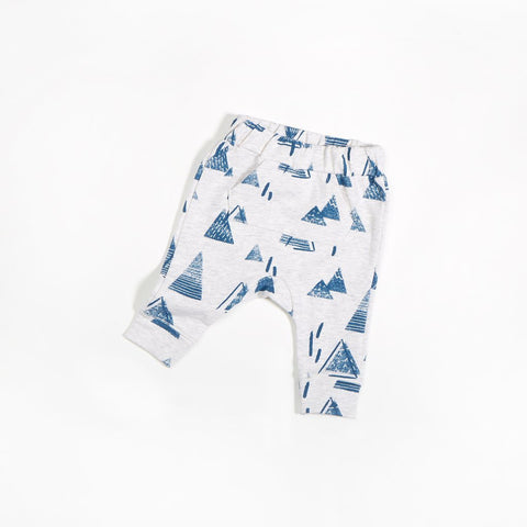 Teal Mountain Drop Baby Pants