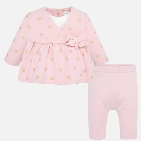 Knit pants set - Old pink
