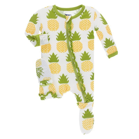 Pineapple Ruffle Footie