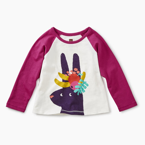 Bouquet Fruit Bunny Raglan Graphic Tee