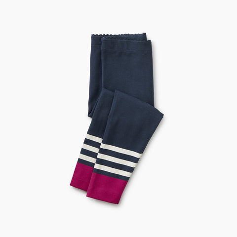 Indigo Graphic Stripe Baby Leggings