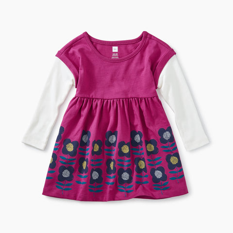 Bouquet Layered Sleeve Baby Dress
