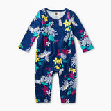Blooms And Butterflies Pretty Pieced Romper