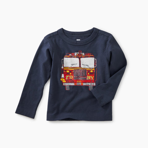Indigo Fire Truck Graphic Tee