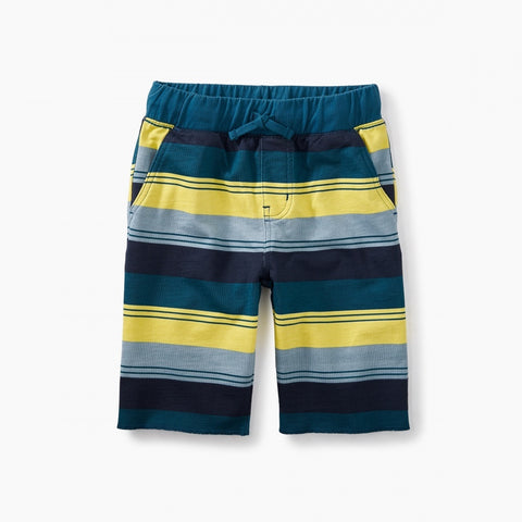 Print Cruiser Shorts -Indigo Tri-Strip