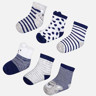 Set of 6 socks Navy