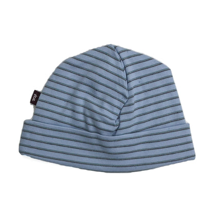Knit Baby Hat: Blue Stripe