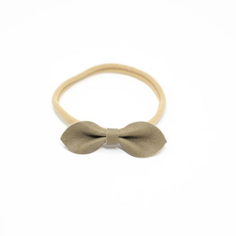 Eva Leather Headband - Olive
