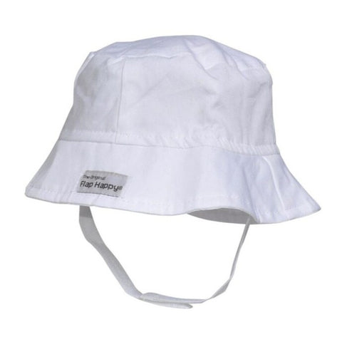 White Basic Bucket Hat