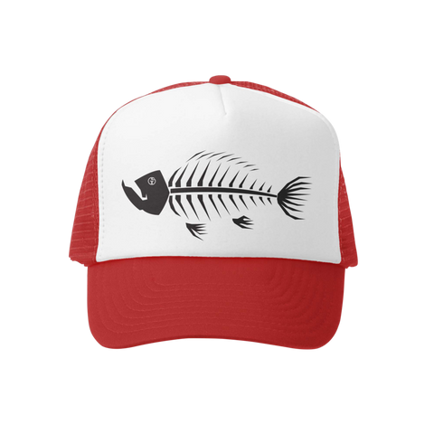 Fish Bones 2.0 Red/Wht Trucker Hat