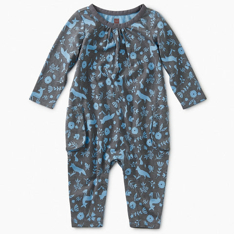 Flora and Fauna Pocket Romper