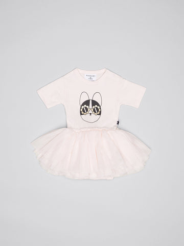 Flower Frenchie Ls Ballet Onesie-Angel