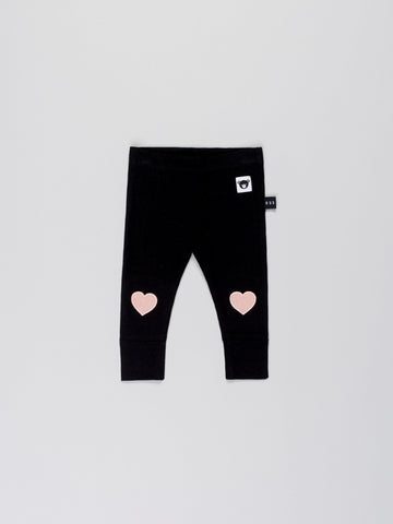 Heart Patch Skinny Legging-Black