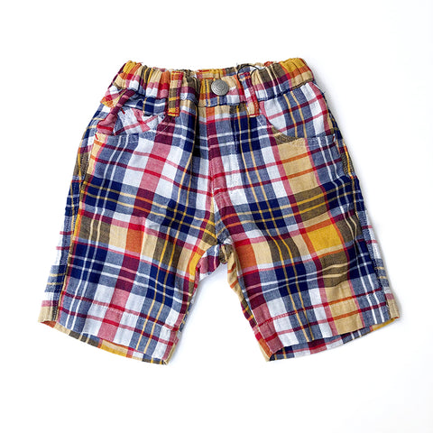 Madras Plaid Shorts Red