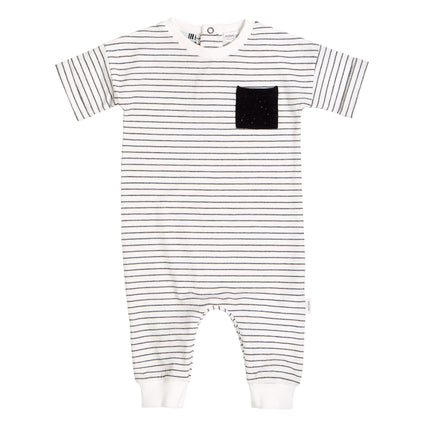 Black & White Striped Playsuit