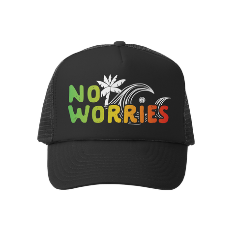 No Worries BLK/BLK Trucker Hat