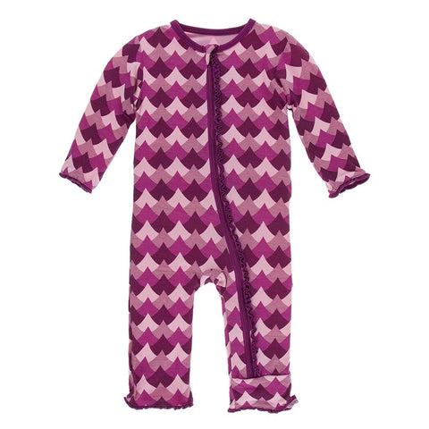 Melody Waves Muffin Ruffle Coverall with Zipper