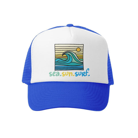 Sea Sun Surf RYL/WHT Trucker Hat