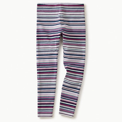 Striped Leggings- Lilac Mist
