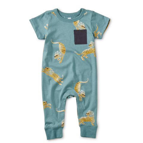 Barbary Lion: Cuffed Pocket Romper