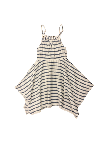 Gentle Surf Stripe Dress: Indigo