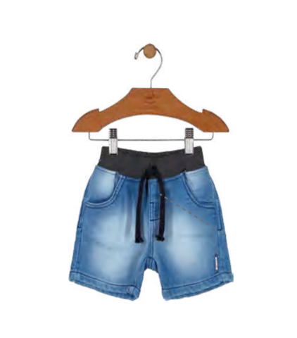 Elastane Denim Shorts: Blue