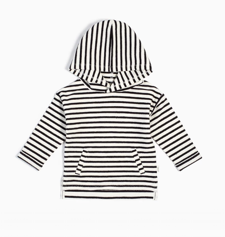 Black & White Baby Striped Hoodie