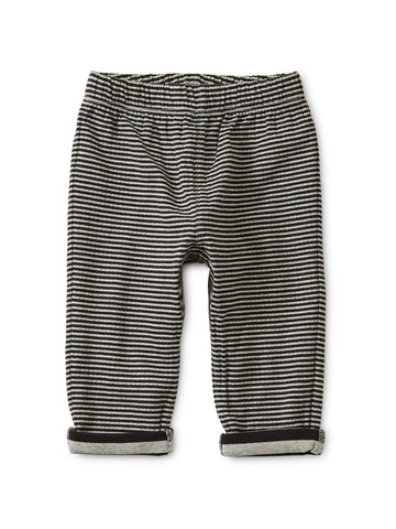 Stripe Double Knit Baby Jogger: Jet Black