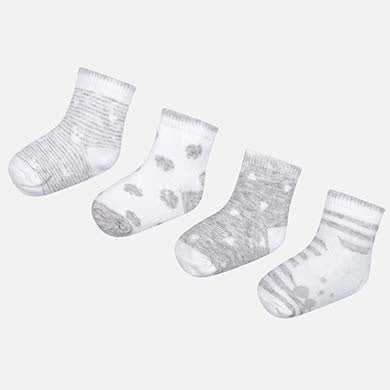 4pc set socks Pearl