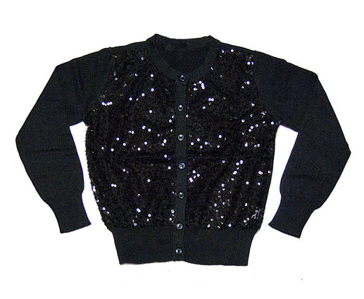 Black Sequin Cardigan