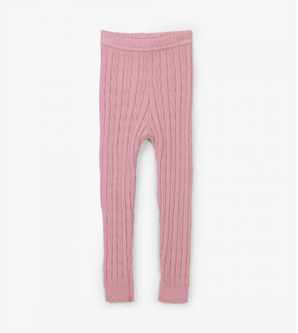 Pink Cable Knit Baby Leggings - Just Kissed