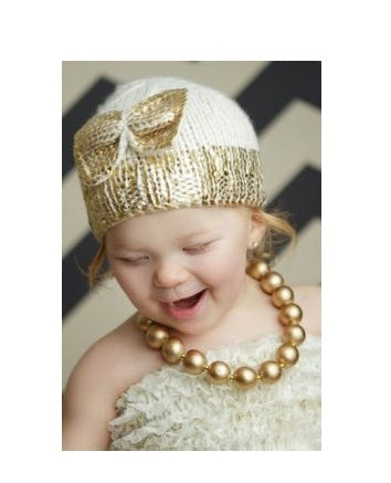 Sabrina Bow Hat Cream/Gold