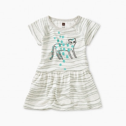 Tiger Raglan Skirted Baby Dress - Batik Waves
