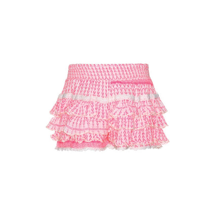 Mim Pink layered scooter skirt with lace accents
