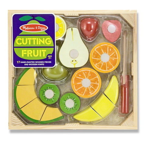 Melissa and Doug Wooden Cutting Fruit Set