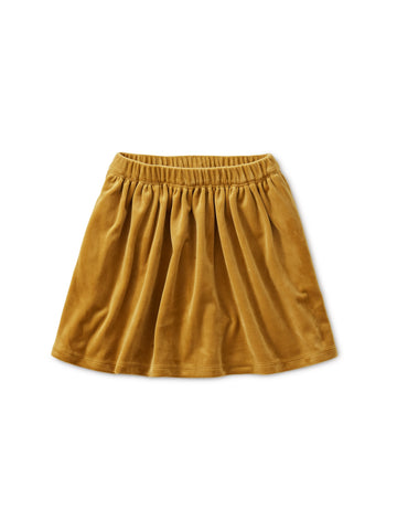 Velour Twirl Skirt: Chestnut