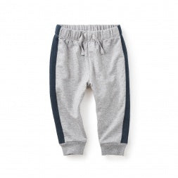 Side Stripe Baby Joggers -MED HEATHER GREY