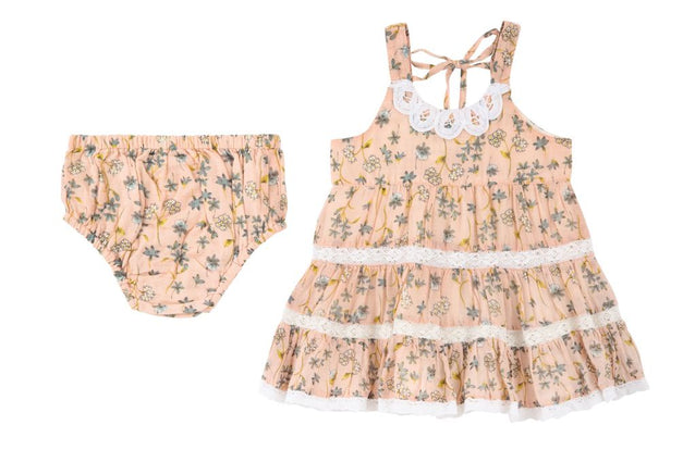 Lace & Blossoms Dress & Diaper Cover